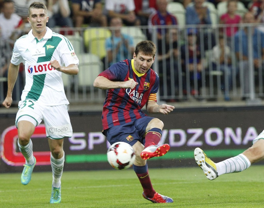 Lionel Messi goal in Barcelona vs Lechia Gdansk