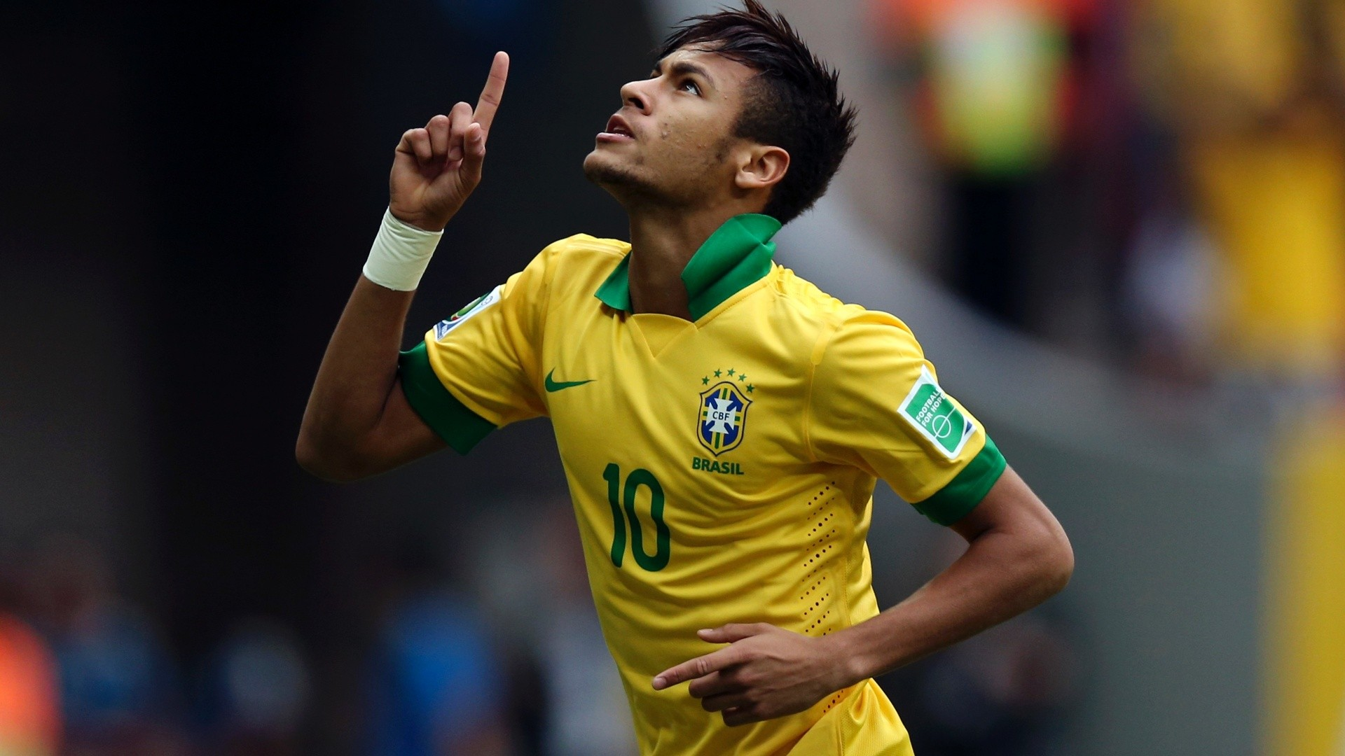 Neymar wallpaper, playing for Brazil in the Confederations Cup in 2013