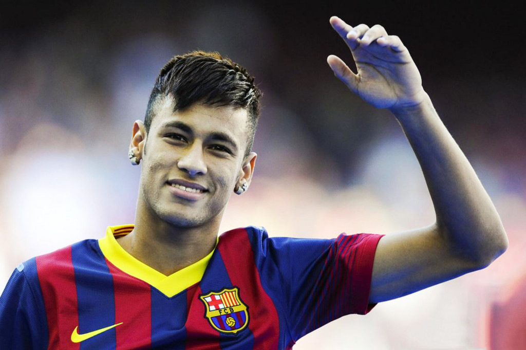Neymar photo in Barcelona presentation
