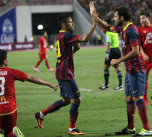 Thailand 1-7 Barcelona: Neymar gets his first goal for Barça