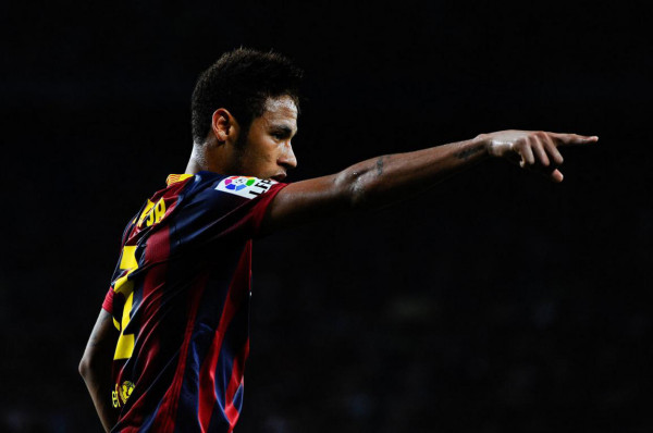 Neymar in action in Barcelona 0-0 Atletico Madrid