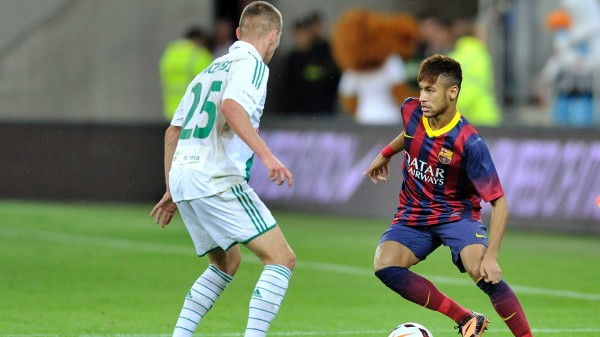 Neymar playing style in Barcelona
