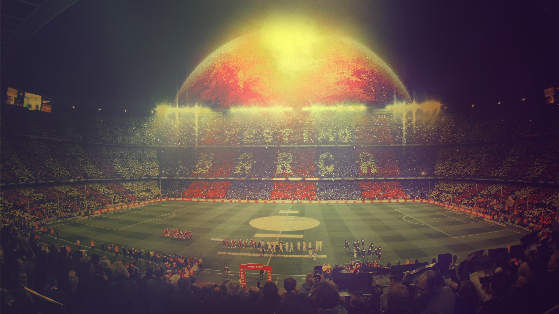 FC Barcelona stadium, the Camp Nou wallpaper in 2013-2014