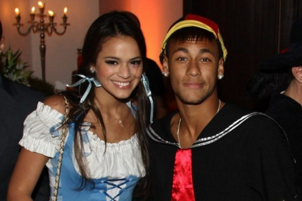 Bruna Marquezine and boyfriend Neymar dating and wearing costumes in a party