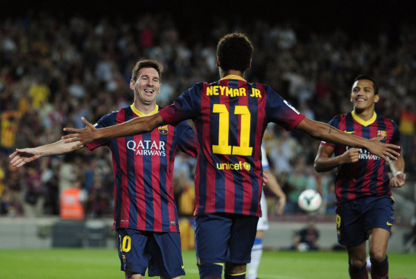 Neymar and Lionel Messi great partnership at Barcelona