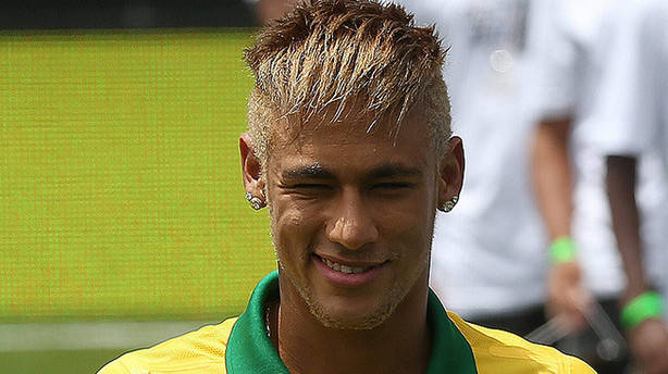 Neymar blonde look and blonde hair