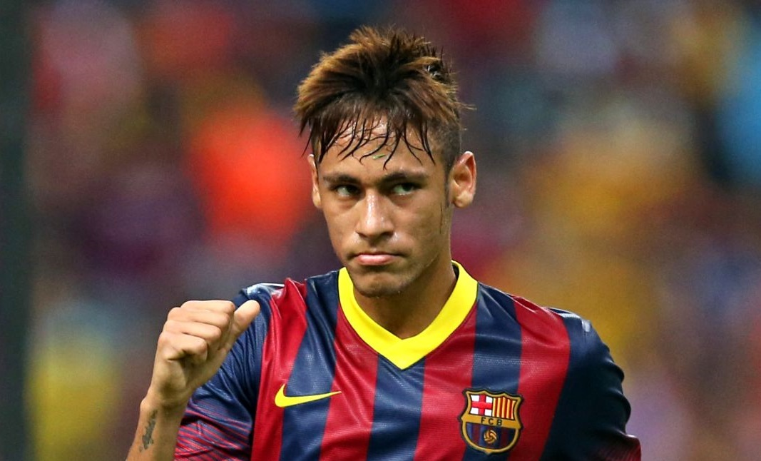 Neymar hairstyle in Barcelona 2013-2014