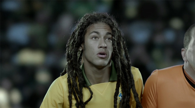 Neymar hairstyle with rastas like Bob Marley