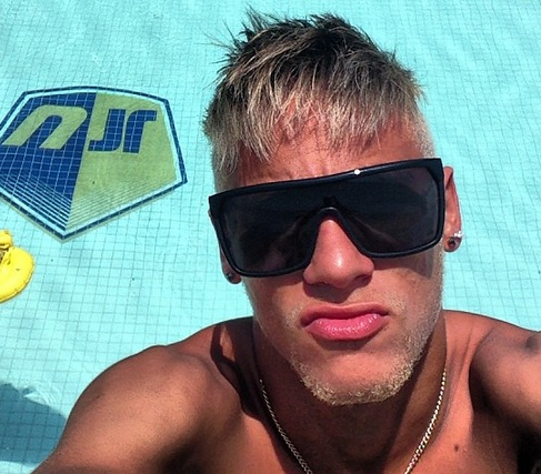 Neymar summer hairstyle, with his hair dyed blonde