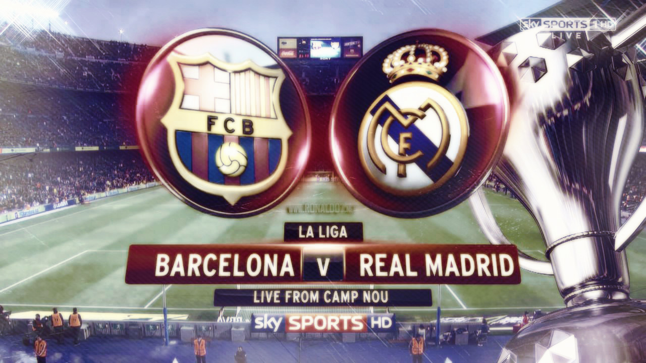 Barcelona vs Real Madrid, SkySports TV game poster
