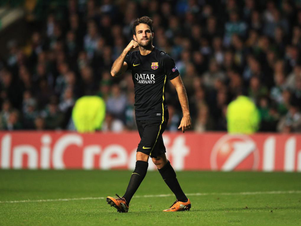 Cesc Fabregas, Barcelona new hero in the Celtic Park