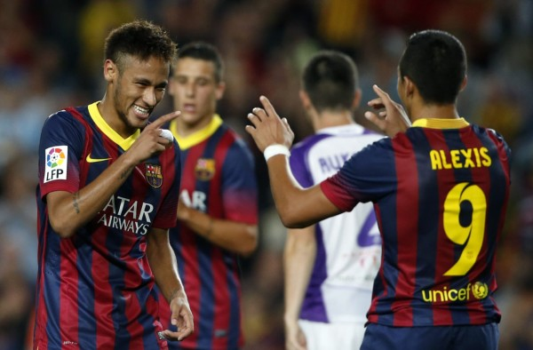 Neymar and Alexis steal the show at the Camp Nou