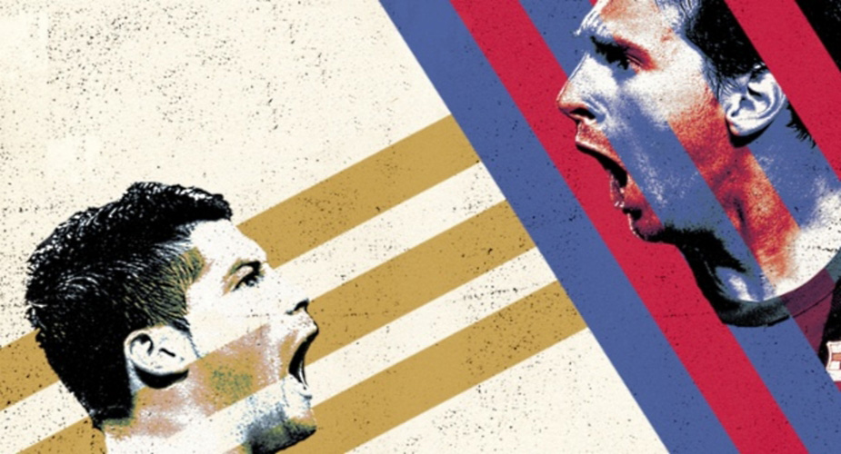 Ronaldo vs Messi face to face wallpaper