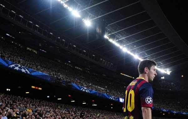 Lionel Messi in Camp Nou Champions League night