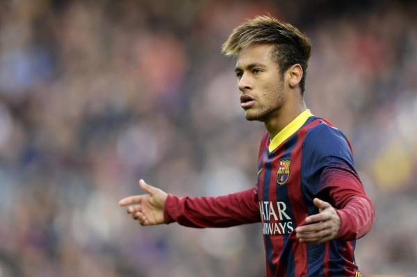 Neymar asking for explanations, in Barcelona 2013-2014