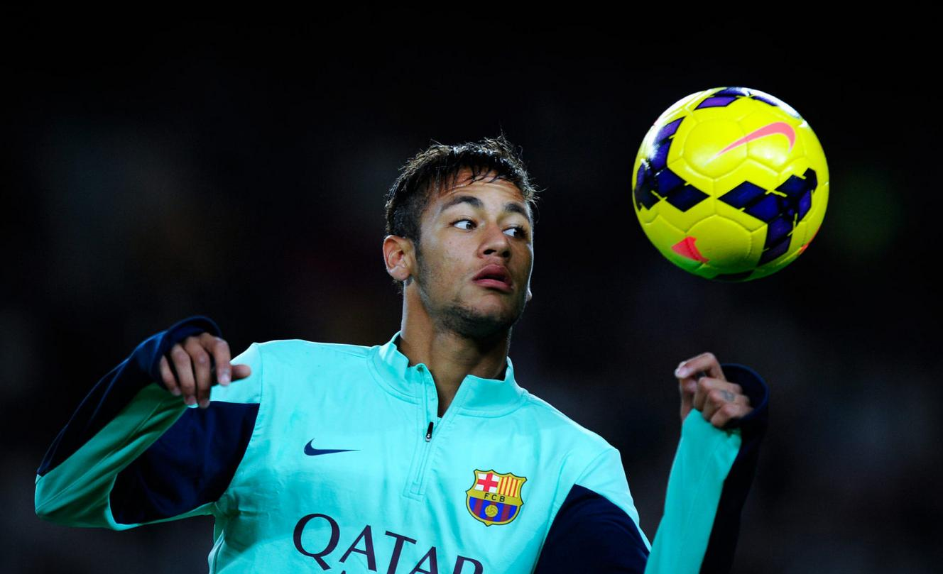 Neymar in Barcelona training gear
