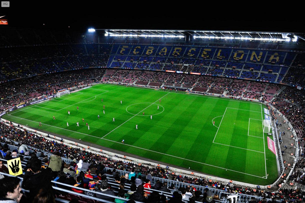 Camp Nou night game, for the Copa del Rey