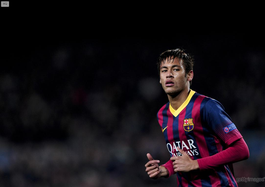 Neymar during a Barcelona UEFA Champions League game
