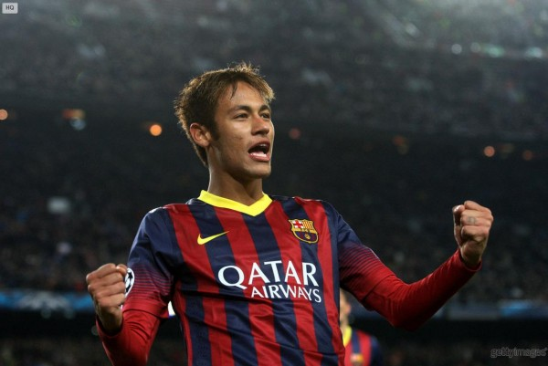 Neymar happiness for scoring an hat-trick for Barcelona