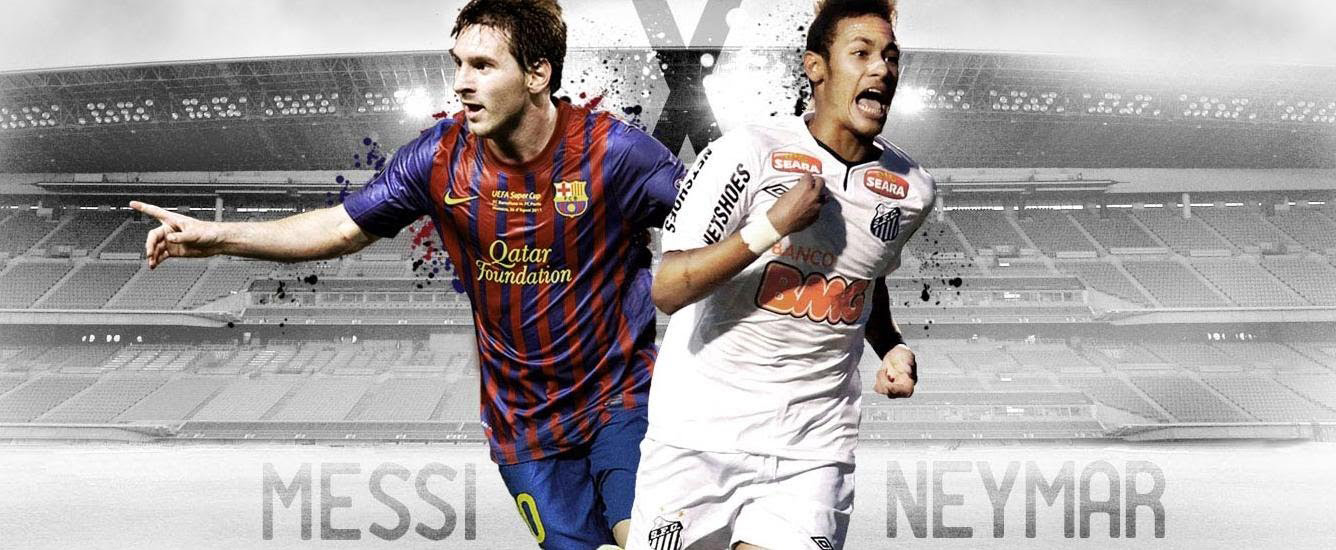 Neymar and Messi wallpaper - Barcelona vs Santos