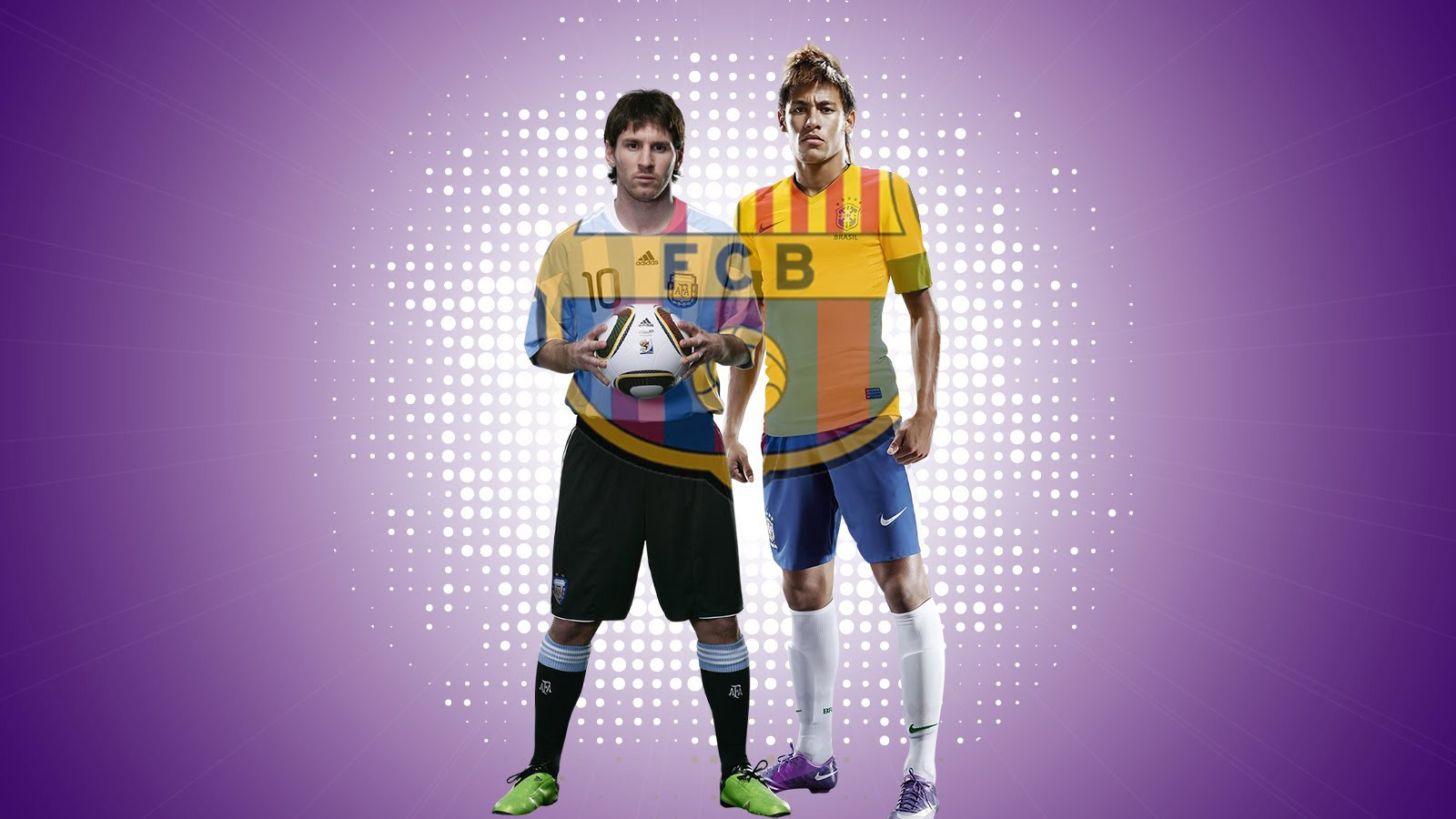 Neymar and Messi wallpaper - FC Barcelona 2013-2014