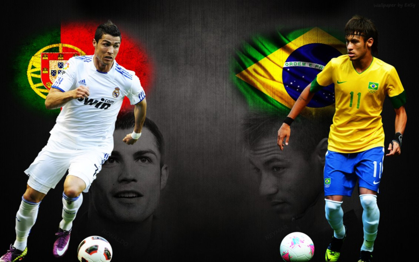 Neymar vs Cristiano Ronaldo wallpaper