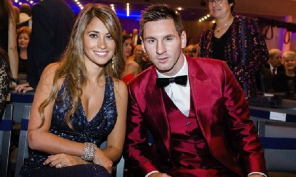 Antonella Roccuzzo and Lionel Messi, at the FIFA Ballon d'Or 2013