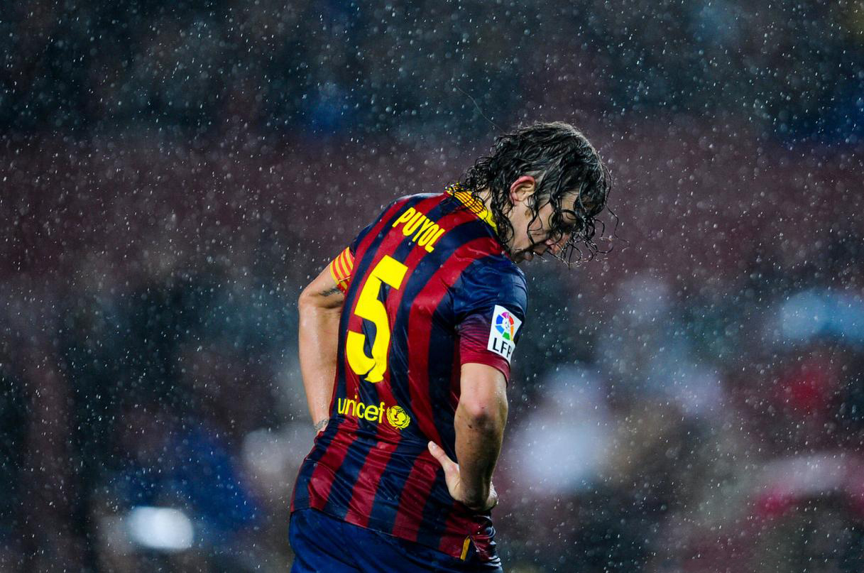 Carles Puyol, Barcelona captain in 2014