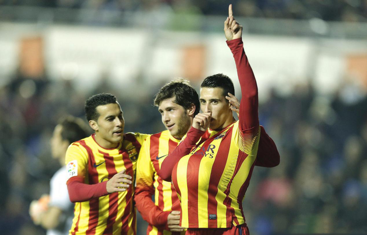 Cristian Tello hat-trick for Barcelona