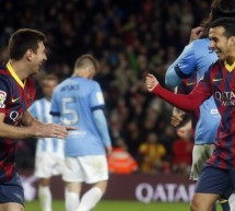 Barcelona 3-0 Malaga: Back to the top of the league