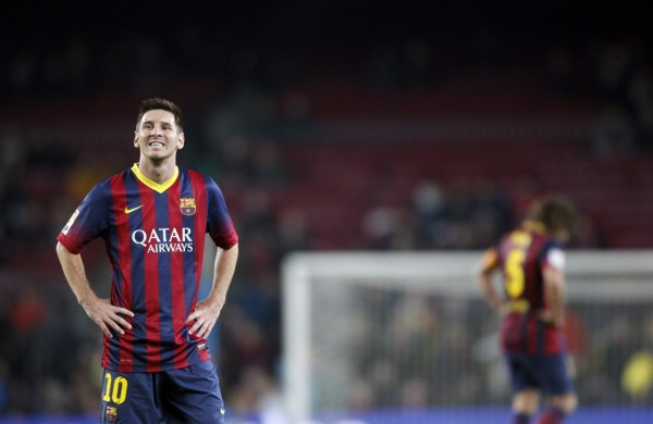 Lionel Messi first game for Barcelona, in 2014