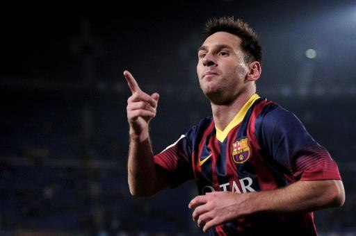 Lionel Messi scoring after returning from injury