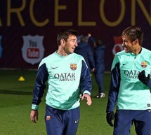 Messi returns to training and appears to be ready for 2014