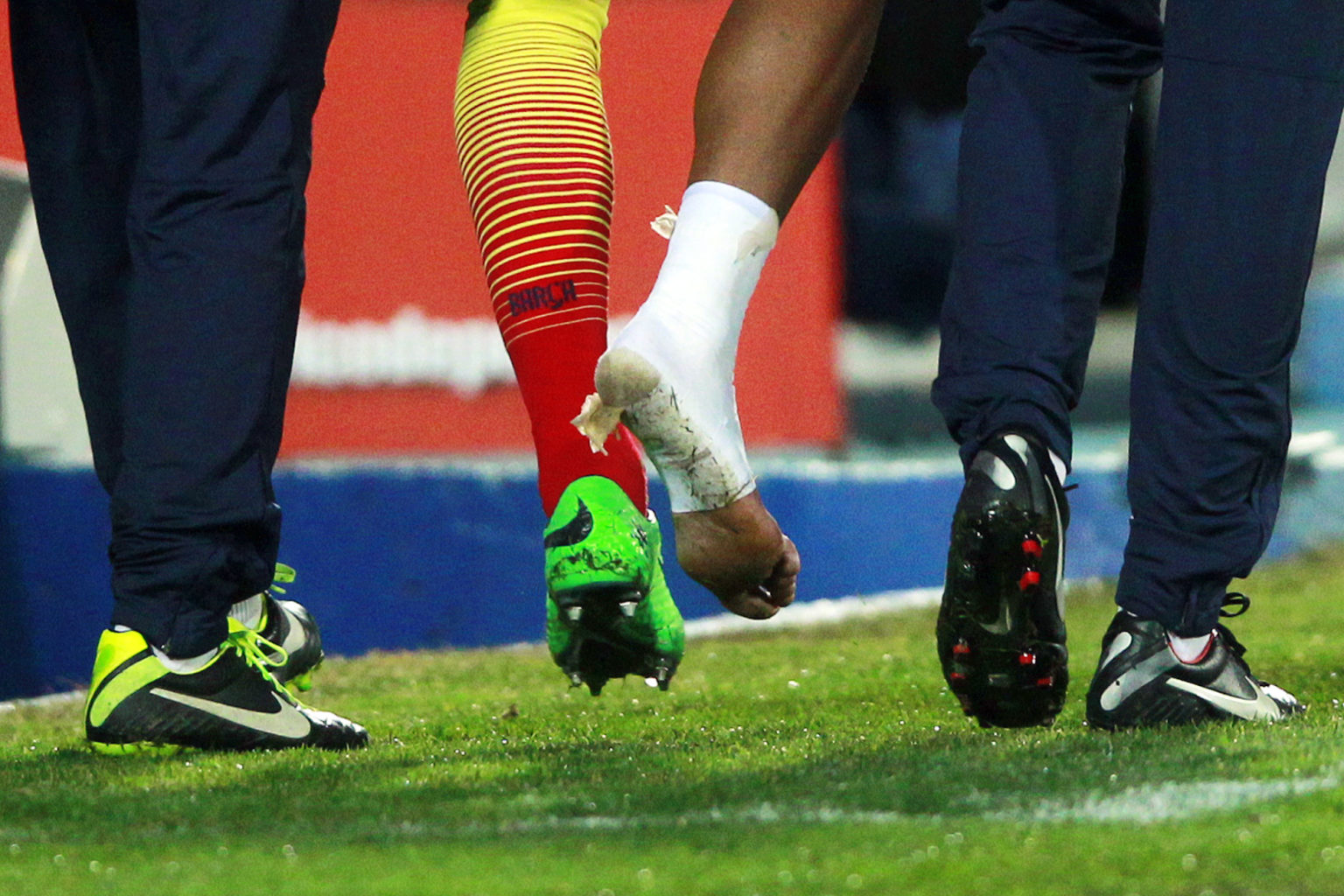 Neymar ankle injury in 2014