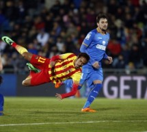Getafe 0-2 Barcelona: Messi scores a double and Neymar gets injured