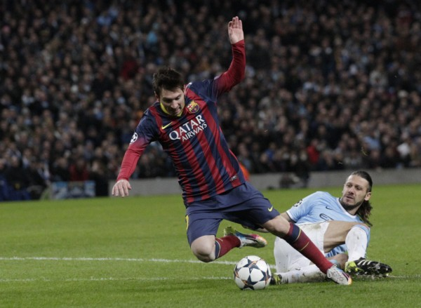 DeMichelis tackle on Lionel Messi