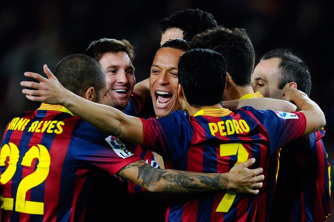 FC Barcelona team players in 2014