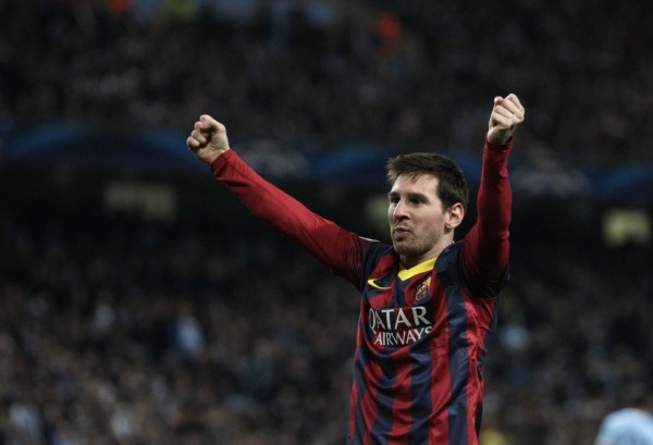 Lionel Messi leads Barcelona to victory in the Etihad