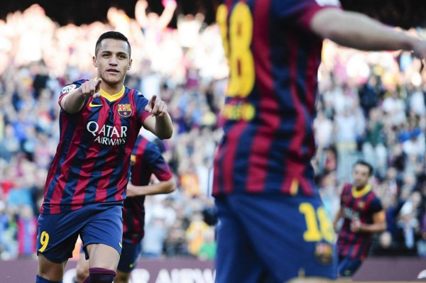 Alexis Sanchez on fire for Barcelona