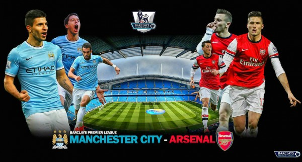 Manchester City vs Arsenal match flyer