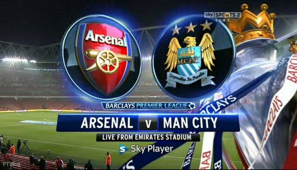 Arsenal vs Manchester City on Sky Sports, live broadcast
