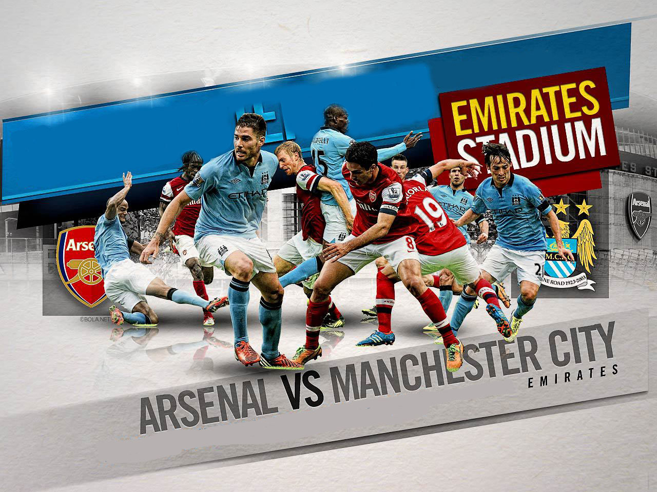Arsenal vs Manchester City wallpaper