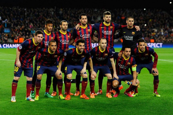 Barcelona starting eleven and line-up, against Manchester City