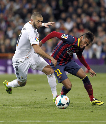 Karim Benzema vs Neymar in Real Madrid vs Barcelona
