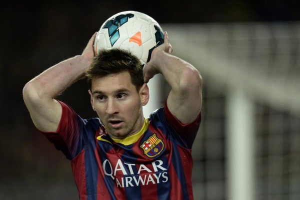 Lionel Messi making a free-throw