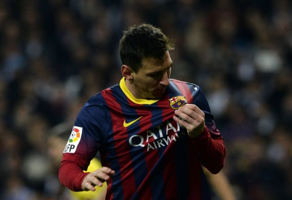 Lionel Messi showing his love and passion for FC Barcelona