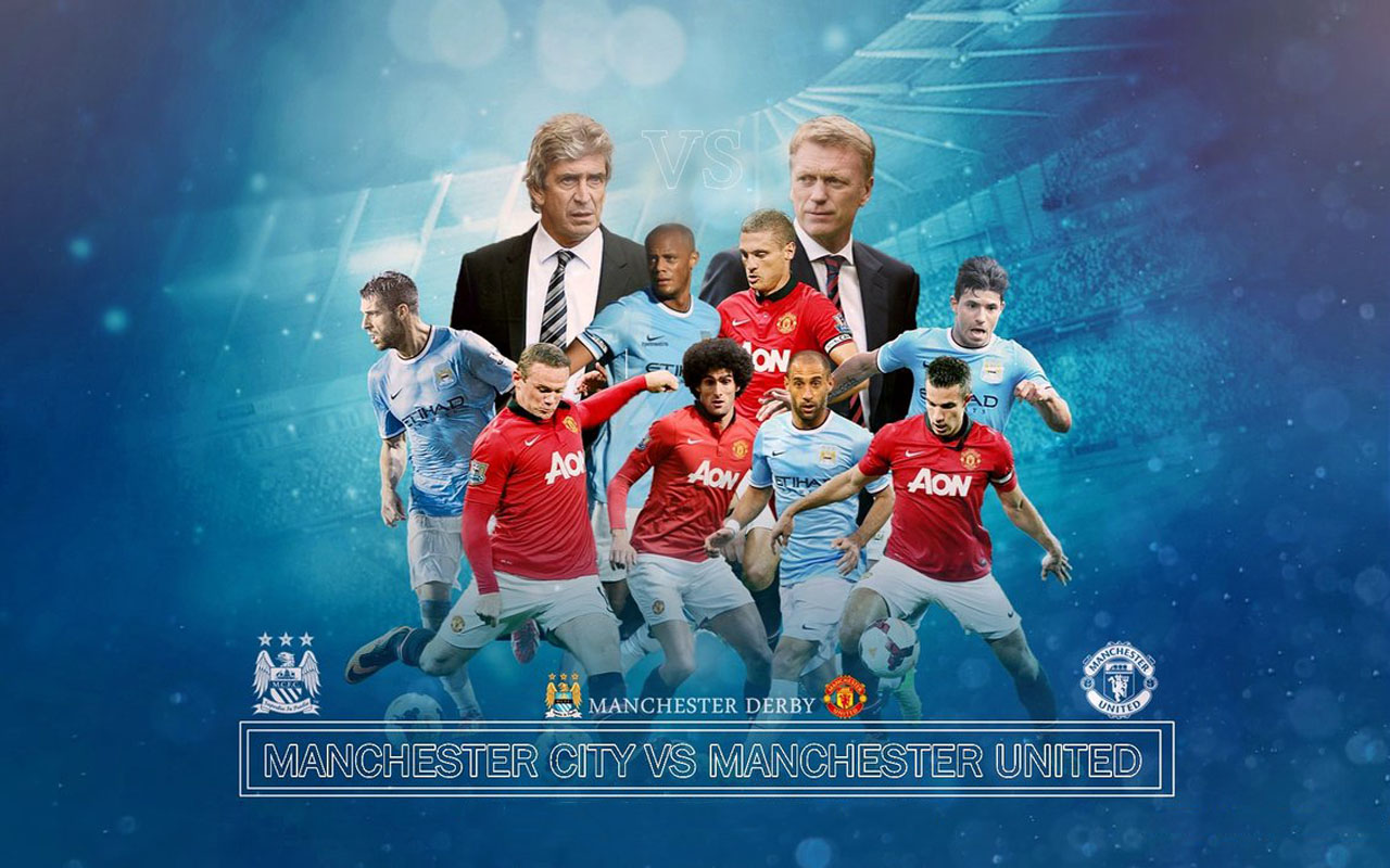Manchester derby wallpaper - Man City vs Man Utd