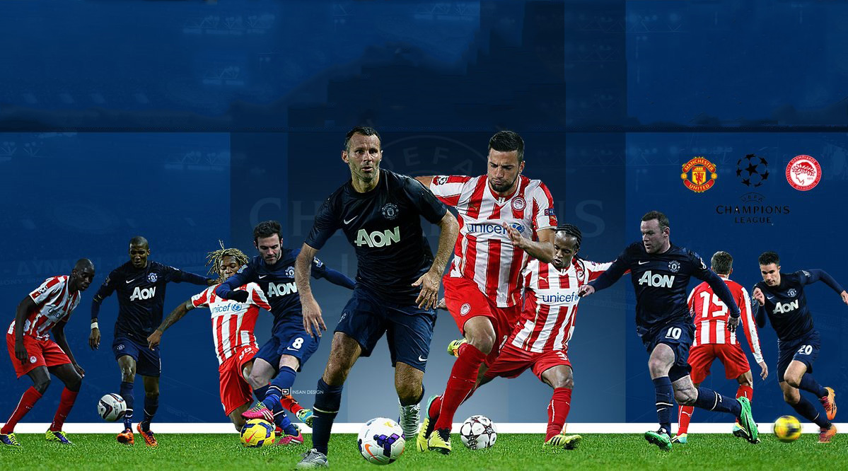 Manchester United vs Olympiakos Champions League wallpaper