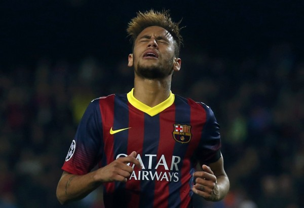 Neymar frustrated and funny hairstyle