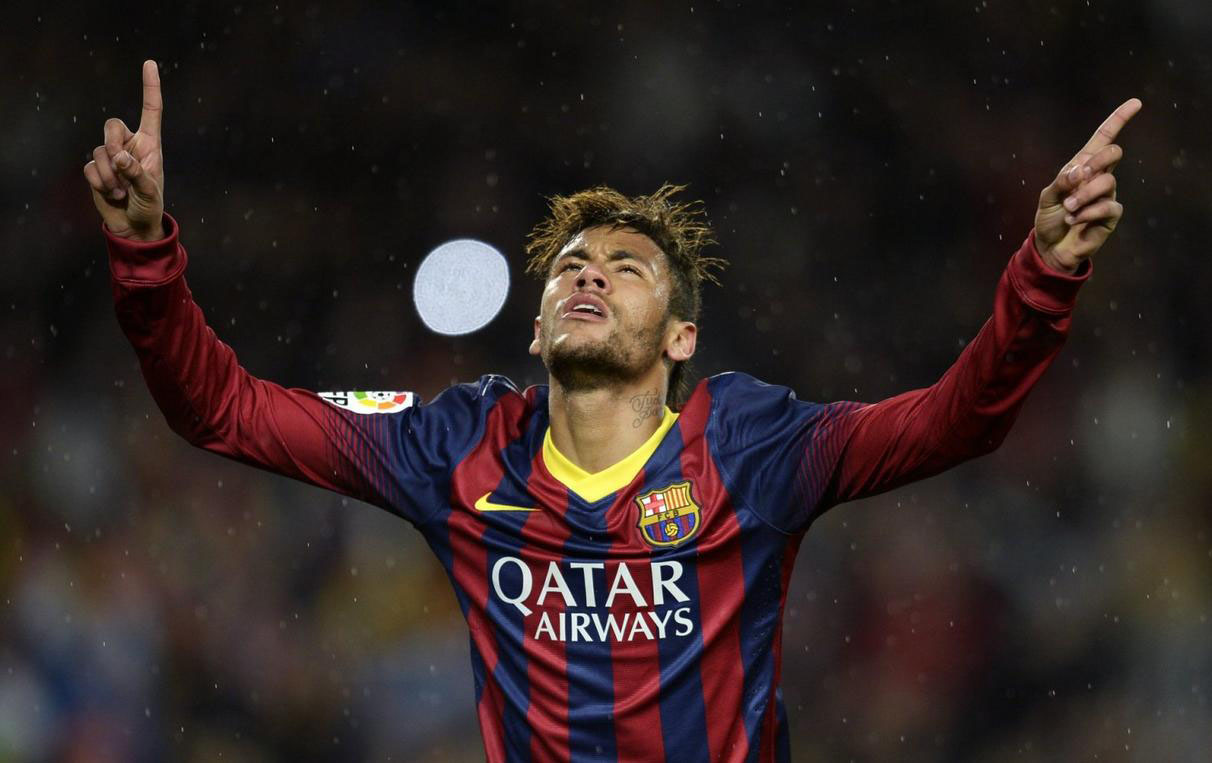 Neymar grateful to God, after scoring for Barcelona
